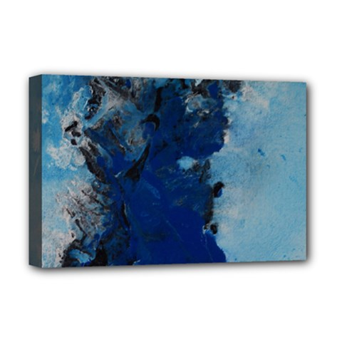 Blue Abstract No 2 Deluxe Canvas 18  X 12   by timelessartoncanvas