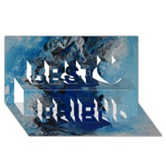 Blue Abstract No 2 Best Friends 3d Greeting Card (8x4)  by timelessartoncanvas