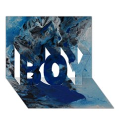 Blue Abstract No 2 Boy 3d Greeting Card (7x5) by timelessartoncanvas