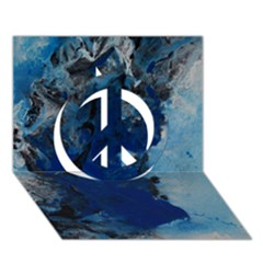 Blue Abstract No 2 Peace Sign 3d Greeting Card (7x5)  by timelessartoncanvas