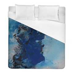 Blue Abstract No 2 Duvet Cover Single Side (twin Size) by timelessartoncanvas