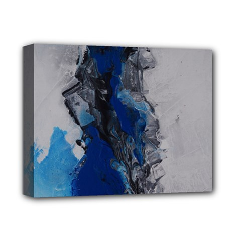 Blue Abstract No 3 Deluxe Canvas 14  X 11  by timelessartoncanvas