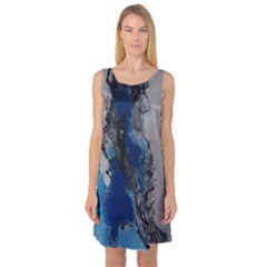 Blue Abstract No 3 Sleeveless Satin Nightdresses by timelessartoncanvas