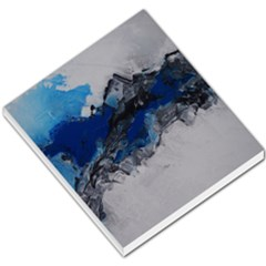 Blue Abstract No 4 Small Memo Pads by timelessartoncanvas