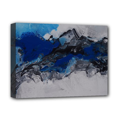 Blue Abstract No 4 Deluxe Canvas 16  X 12