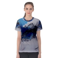Blue Abstract No 4 Women s Sport Mesh Tees