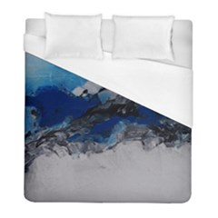 Blue Abstract No 4 Duvet Cover Single Side (twin Size) by timelessartoncanvas