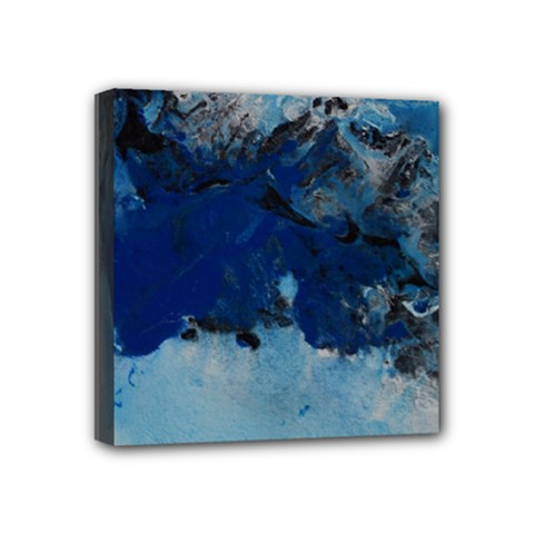 Blue Abstract No 5 Mini Canvas 4  X 4  by timelessartoncanvas