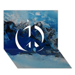 Blue Abstract No 5 Peace Sign 3d Greeting Card (7x5)  by timelessartoncanvas