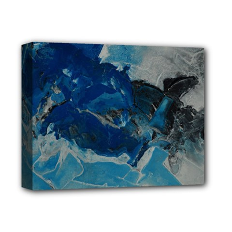 Blue Abstract No  6 Deluxe Canvas 14  X 11  by timelessartoncanvas