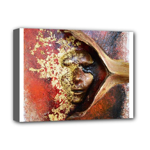 Red Mask Deluxe Canvas 16  X 12   by timelessartoncanvas