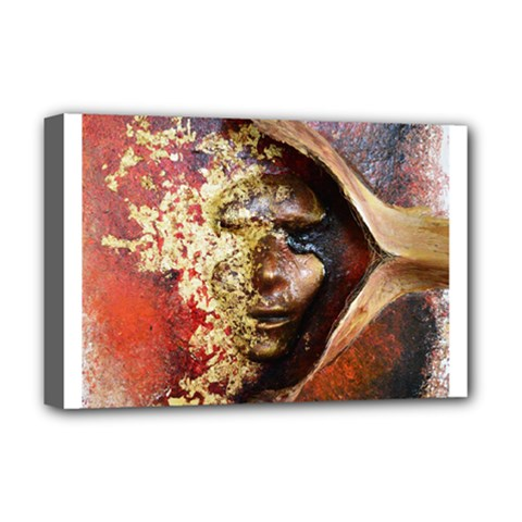 Red Mask Deluxe Canvas 18  X 12   by timelessartoncanvas