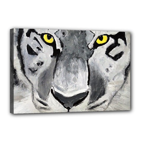 The Eye If The Tiger Canvas 18  X 12  by timelessartoncanvas