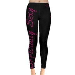 Officially Sexy Candy Collection Purple Strap Copy Leggings
