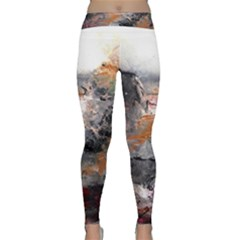 Natural Abstract Landscape Yoga Leggings by timelessartoncanvas