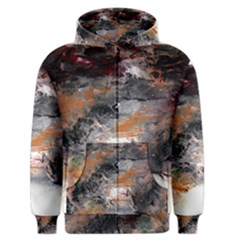Natural Abstract Landscape No  2 Men s Zipper Hoodies by timelessartoncanvas