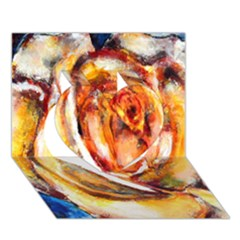 Abstract Rose Heart 3d Greeting Card (7x5)  by timelessartoncanvas
