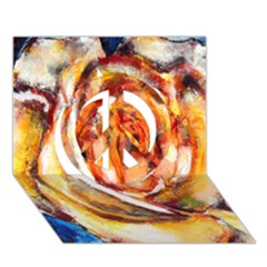 Abstract Rose Peace Sign 3d Greeting Card (7x5)  by timelessartoncanvas