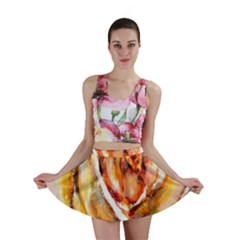 Abstract Rose Mini Skirts