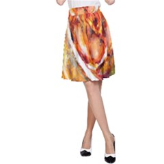 Abstract Rose A Line Skirts