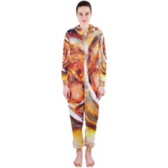 Abstract Rose Hooded Jumpsuit (ladies)