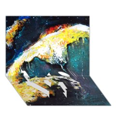 Abstract Space Nebula Love Bottom 3d Greeting Card (7x5)  by timelessartoncanvas