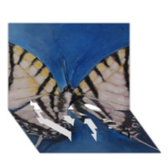 Butterfly Love Bottom 3d Greeting Card (7x5)  by timelessartoncanvas