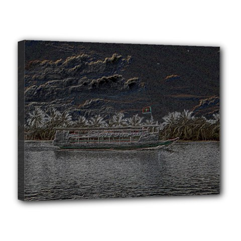 Boat Cruise Canvas 16  X 12