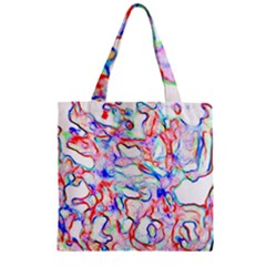 Soul Colour Light Zipper Grocery Tote Bags by InsanityExpressed