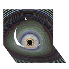 Colour Twirl Circle 3d Greeting Card (7x5)  by InsanityExpressed
