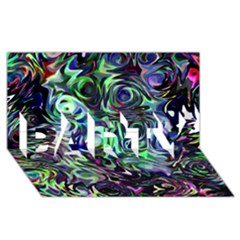 Colour Play Flowers Party 3d Greeting Card (8x4)  by InsanityExpressed
