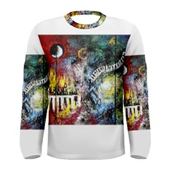 Abstract Music Painting Men s Long Sleeve T Shirts by timelessartoncanvas