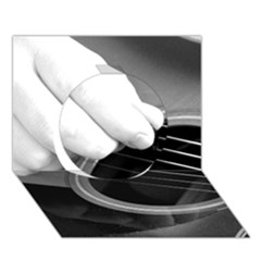 Guitar Player Circle 3d Greeting Card (7x5)  by timelessartoncanvas