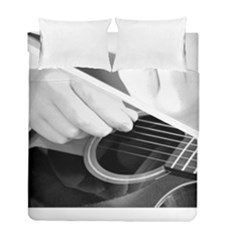 Guitar Player Duvet Cover (twin Size) by timelessartoncanvas