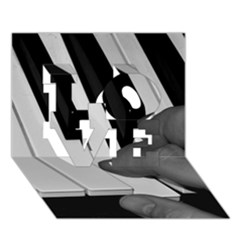 The Piano Player Love 3d Greeting Card (7x5)  by timelessartoncanvas