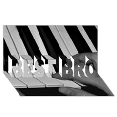 The Piano Player Best Bro 3d Greeting Card (8x4)  by timelessartoncanvas