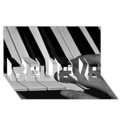 The Piano Player Believe 3d Greeting Card (8x4)  by timelessartoncanvas