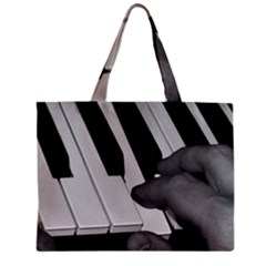 The Piano Player Zipper Tiny Tote Bags by timelessartoncanvas