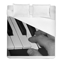 The Piano Player Duvet Cover Single Side (twin Size) by timelessartoncanvas