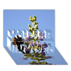 Bumble Bee 1 You Are Invited 3d Greeting Card (7x5)