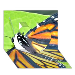 Butterfly 2 Heart 3d Greeting Card (7x5)  by timelessartoncanvas