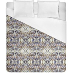 Oriental Geometric Floral Print Duvet Cover Single Side (double Size) by dflcprints