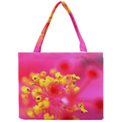Bright Pink Hibiscus Tiny Tote Bags