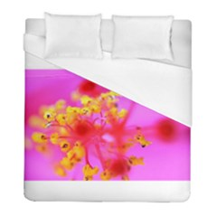 Bright Pink Hibiscus 2 Duvet Cover Single Side (twin Size) by timelessartoncanvas