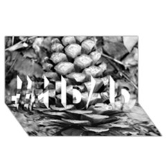 Pinecone Spiral #1 Dad 3d Greeting Card (8x4)  by timelessartoncanvas