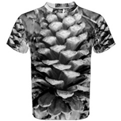 Pinecone Spiral Men s Cotton Tees by timelessartoncanvas