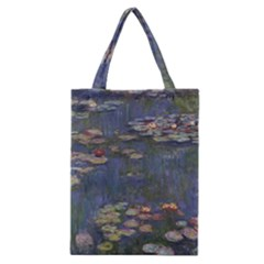 Claude Monet   Water Lilies Classic Tote Bags by ArtMuseum