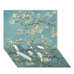 Almond Blossom Tree Love Bottom 3d Greeting Card (7x5)  by ArtMuseum