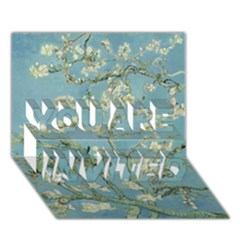 Almond Blossom Tree You Are Invited 3d Greeting Card (7x5)  by ArtMuseum
