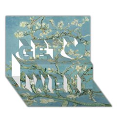 Almond Blossom Tree Get Well 3d Greeting Card (7x5)  by ArtMuseum